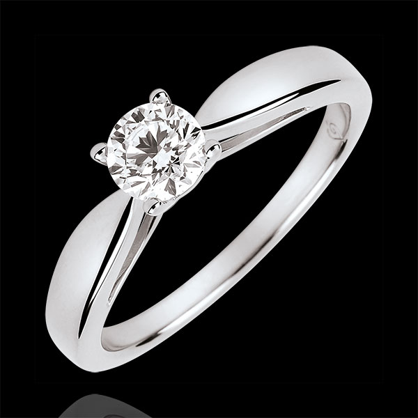 Reed Solitire - 0.4 carat diamond - white gold 18 carats