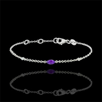 Regard d'Orient bracelet - amethyst and diamonds -white gold 9 carats