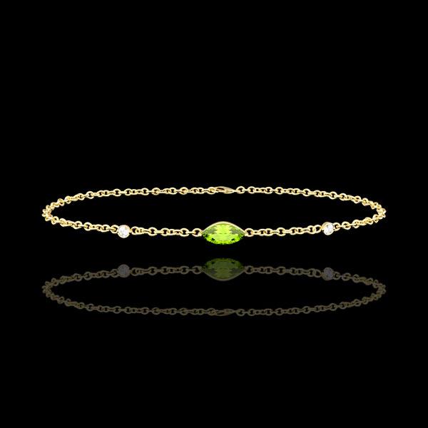 Regard d'Orient bracelet - peridot and diamonds - yellow gold 9 carats