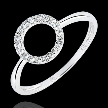 Ring Abundance - Attitude - white gold 9 carats and diamonds