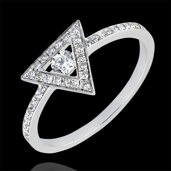 Ring Abundance - Gravity - white gold 9 carats and diamonds