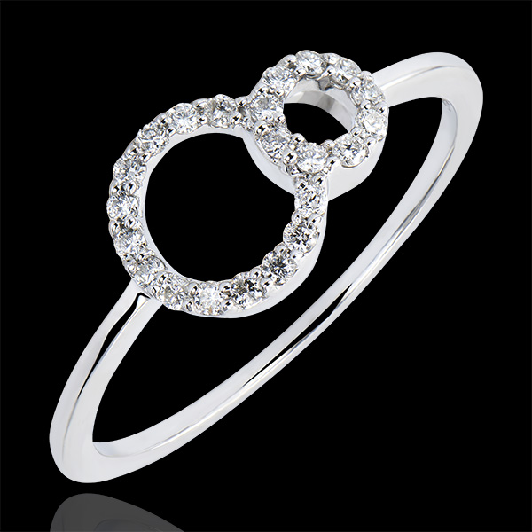 Ring Abundance - Infinity - white gold 9 carats and diamonds
