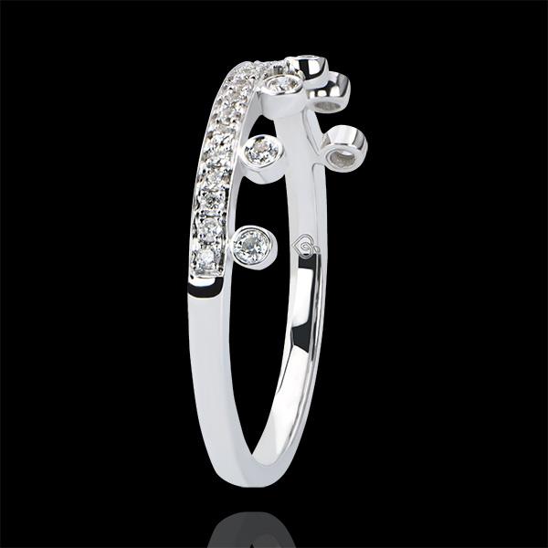 Ring Abundance - Majesty - white gold 9 carats and diamonds