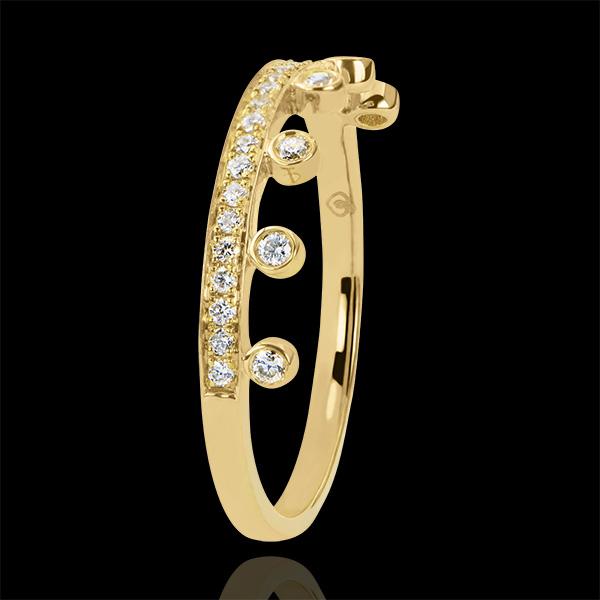 Ring Abundance - Majesty - yellow gold 9 carats and diamonds
