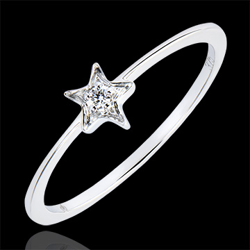Ring Abundance- My star - white gold 9 carats and diamond