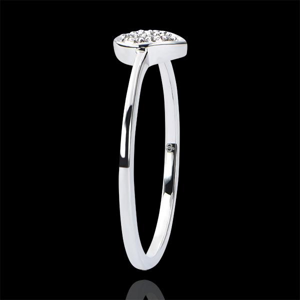 Ring Abundance - Precious Drop - white gold 9 carats and diamonds