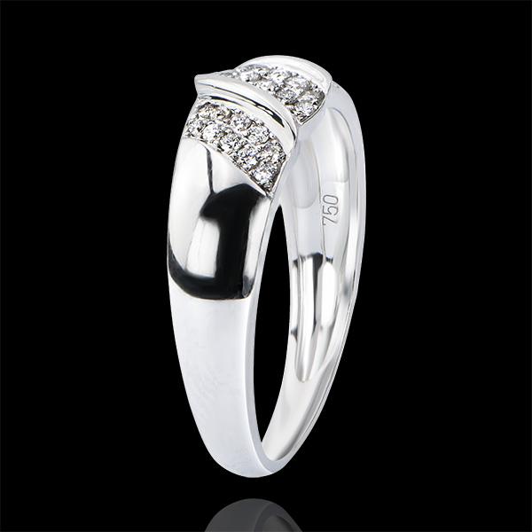 Ring Abundance - Ribbon - white gold 9 carats and diamonds