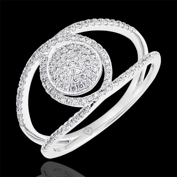 Ring Baladine - 375er Weißgold und Diamanten