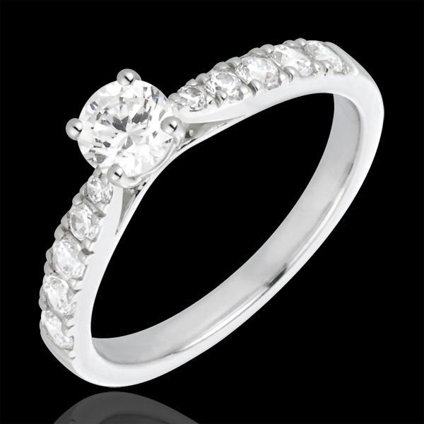 Ring Belle Cherie 18 karaat - 18 karaat witgoud met Diamant