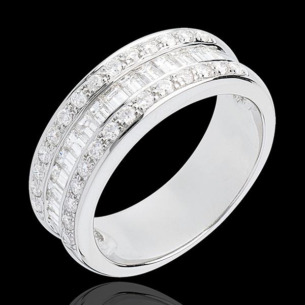 Ring Betovering - Erfgename bezet 18 karaat witgoud - 0.88 karaat - 44 Diamanten