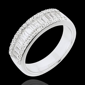 Ring Betovering - Oneindig Licht - 49 diamanten 1.63 karaat - 18 karaat witgoud