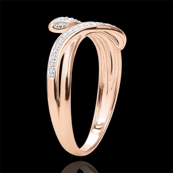 Ring Bezaubernde Schlange - Roségold und Diamanten - 18 Karat