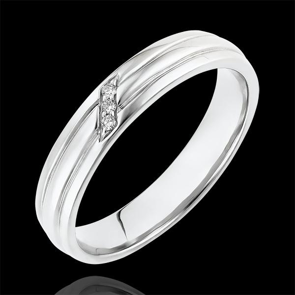 Ring Chiaroscuro - Diamanten Klauw - 18 karaat witgoud en diamanten.