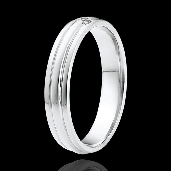Ring Chiaroscuro - Diamanten Klauw - 9 karaat witgoud en diamanten.