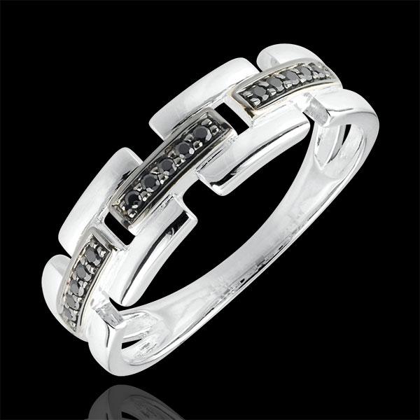 Ring Chiaroscuro - Geheim Pad - 18 karaat witgoud - klein model