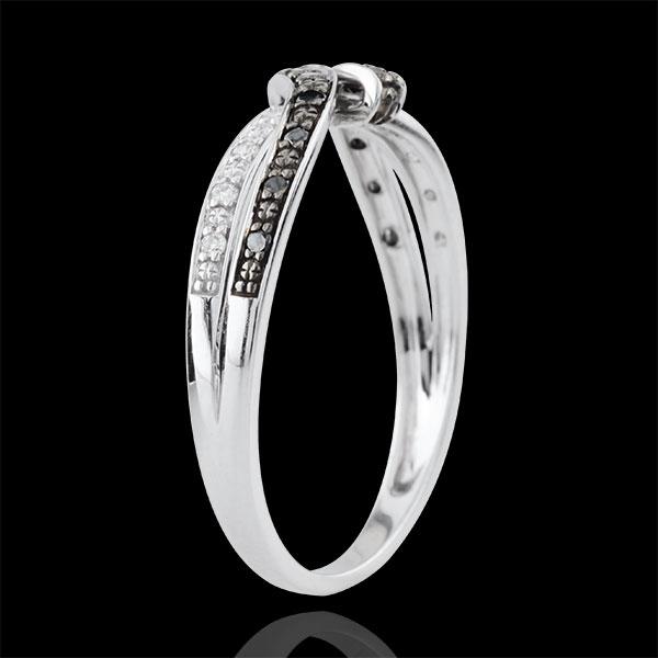 Ring Chiaroscuro- Rendez-vous - 18 karaat witgoud, zwarte Diamant