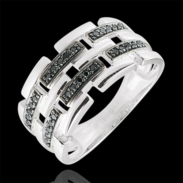 Ring Clair Obscure - Secret Path - white gold - large model 18 carat