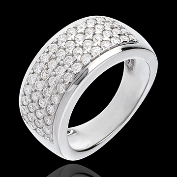 Ring Constellation - Astral - large size - white gold - 1.01 carat - 56 diamonds