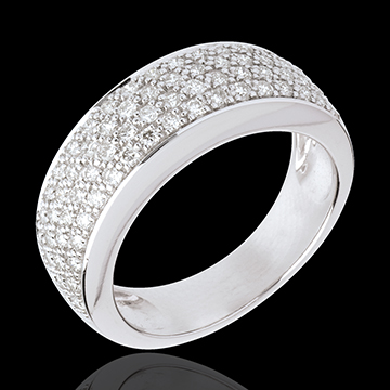 Ring Constellation - Astral variation - white gold paved - 0.72 carat
