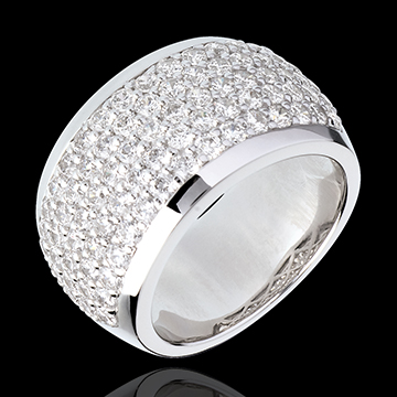 Ring Constellation - Celestial scenery - white gold paved - 2.05 carat - 79 diamonds