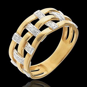 Ring Couture in Gelbgold - 11 Diamanten