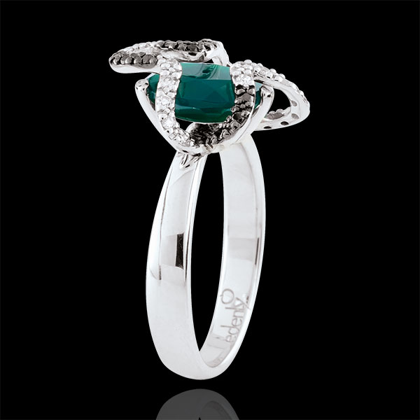 Ring Dagdromen - Medusa - zilver, Diamanten en edelstenen