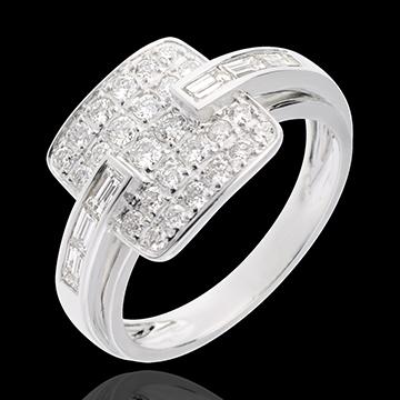 Ring Riad in Weissgold - 0.82 Karat - 32 Diamanten