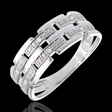 Ring Kanevas in Weissgold - 6 Diamanten