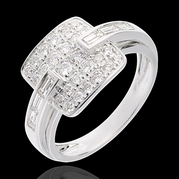 Ring Riad in Weissgold - 0.82 Karat - 32 Diamanten