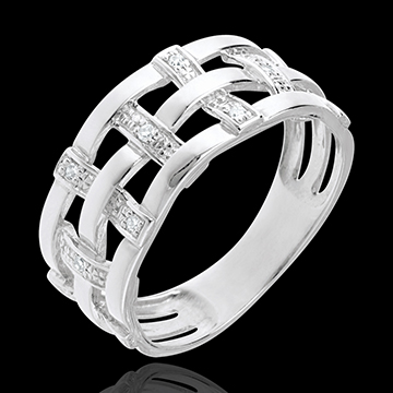 Ring Couture in Weissgold - 11 Diamanten