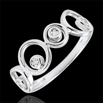 Ring Luna diamanten en wit goud Luna - 4 diamanten - 18 karaat