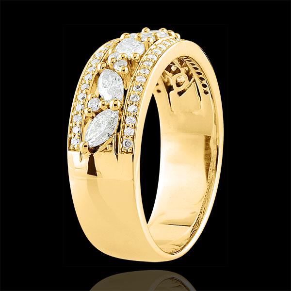 Ring Destiny - Byzantine - yellow gold and diamonds - 18 carat