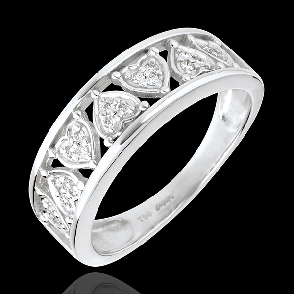 Ring Destiny - Clothilde - 18 karaat witgoud