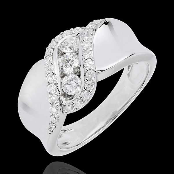 Ring Destiny Trilogy - Scheherazade - white gold