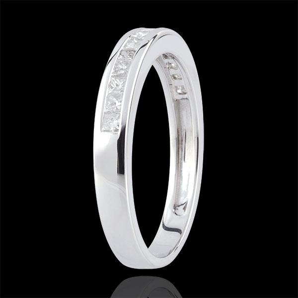 Ring Diamanten Prinses rails - 0.36 karaat - 18 karaat witgoud