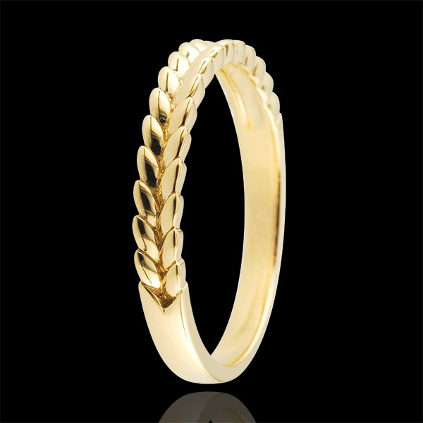 Ring Enchanted Garden - Braid - yellow gold - 9 carat