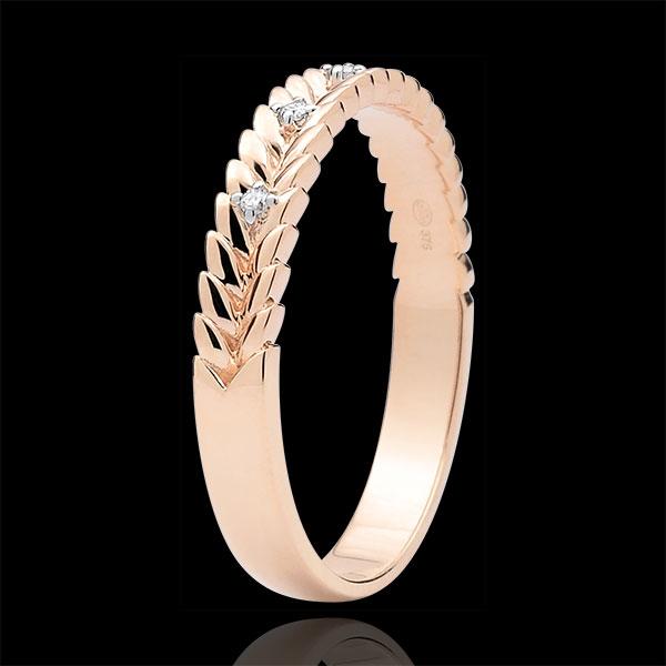 Ring Enchanted Garden - Diamond Braid - pink gold - 18 carats