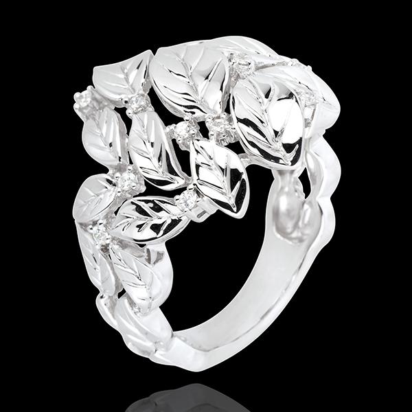 Ring Enchanted Garden - Precious Dew white gold