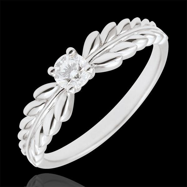 Ring Enchanted Garden - Solitaire Fresia - white gold - 0.20 carat - 9 carat