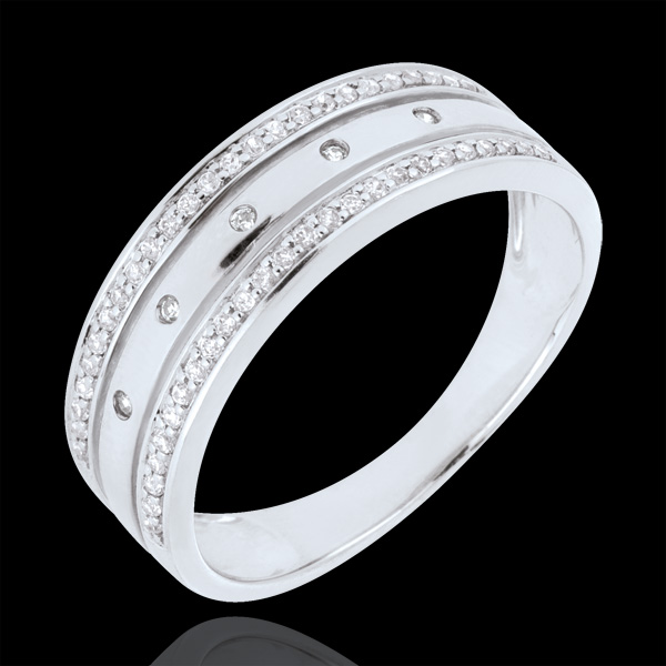 Ring Enchantment - Crown of Stars - large model - white gold, diamonds - 18 carat