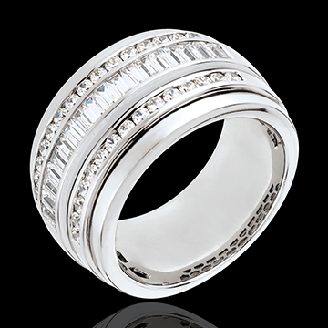 Ring Enchantment - Milky Way - 1.58 carat - 48 diamonds