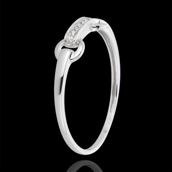 Ring Equestria 18 karaat witgoud met diamant