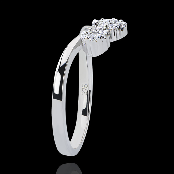 Ring Freshness - Boutures - white gold 18 carats and diamonds