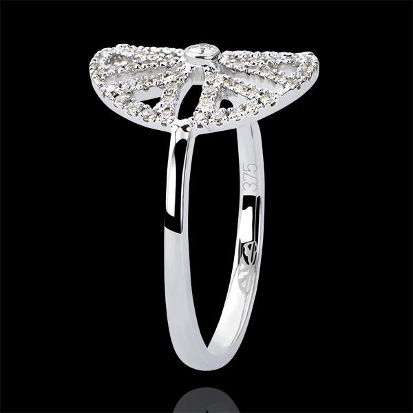 Ring Frische - Arabesk Variation - 18 Karat Weißgold und Diamanten