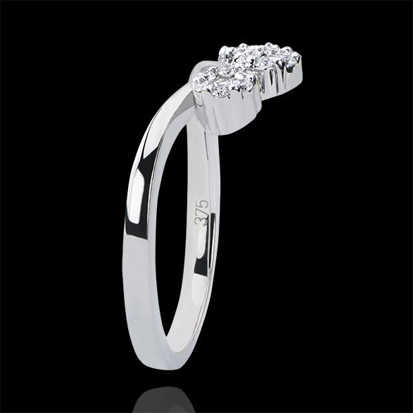 Ring Frische - Knospen - 18 Karat Weißgold und Diamanten