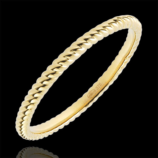 Ring Goldenes Seil - Gelbgold