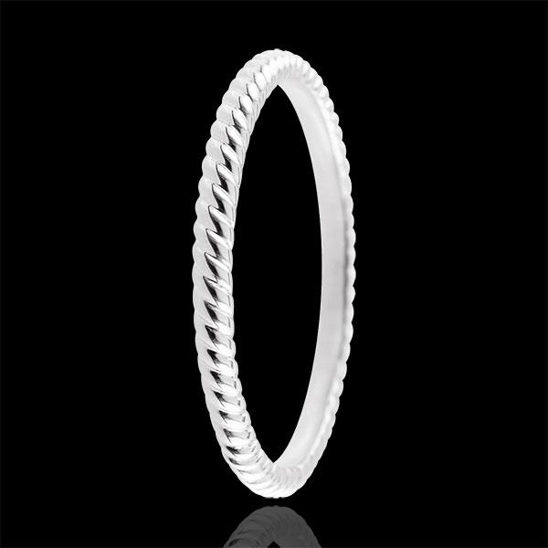 Ring Goldenes Seil - Weißgold