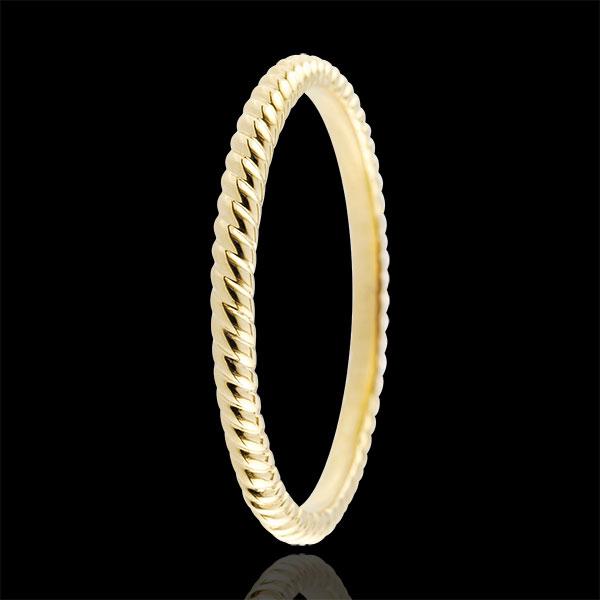 Ring Gouden Touw - 18 karaat geelgoud