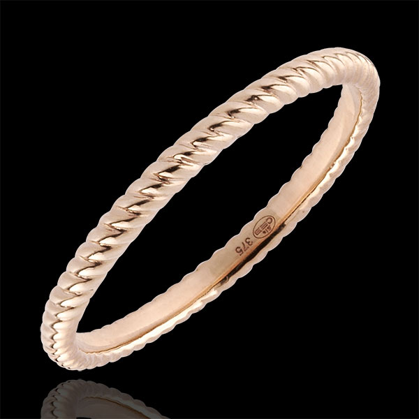 Ring Gouden Touw - rozégoud - 18 karaat goud