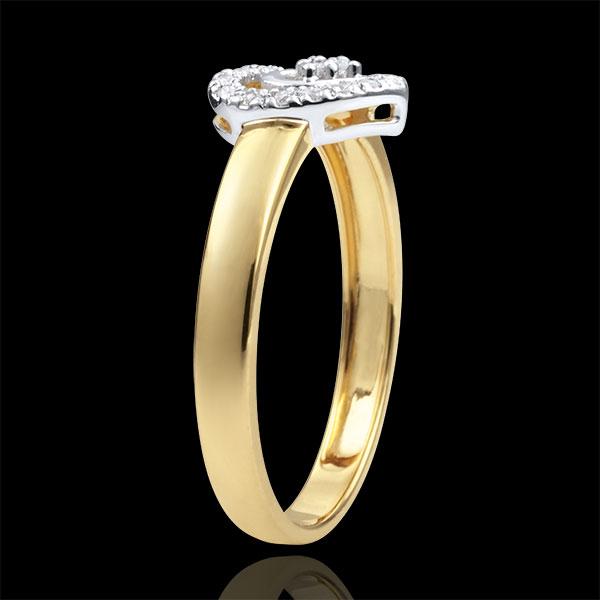 Ring Hart van Parijs - 2 Goudsoorten - 9 karaat goud